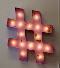"""24"""" Large Metal Hashtag Marquee Vintage Inspired…"""