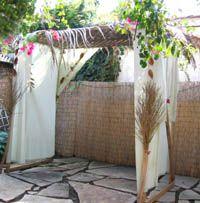 wedding canopy fall  diy with lattice top