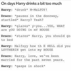 I don't ship Drarry but this is funny