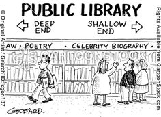 Public library - deep end, shallow end.- #curtnerds - Reading, Libraries, Books  Spaces