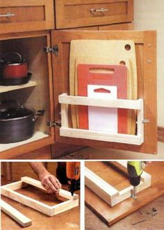 How to build cool Kitchen storage Racks step by step DIY tutorial instructions thumb