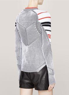 ALEXANDER WANG - Ribbed contrast-knit sweater - on SALE | Multi-colour Long Sleeve Knitwear | Womenswear | Lane Crawford - Shop Designer Brands Online