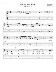 BOLLYWOOD ROMANTIC 90S KB GTR | BOLLYWOOD SHEET MUSIC BOOKS Free Violin Sheet Music, Sheet Music Notes, Piano Music, Music Sheets, Violin Songs, Guitar Tabs Songs, Guitar Notes, Song Sheet, Lyrics And Chords