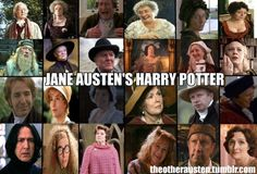 """From """"The Other Austen."""" -- One Tumblr reposter commented, """"Kudos to Michael Gambon, Mark Williams, and Imelda Staunton for pulling off the trifecta of Jane Austen, Doctor Who, and Harry Potter.  There must be more, but those are the ones that I could think of off the top of my head."""""""