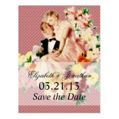 Retro Save the Date cards