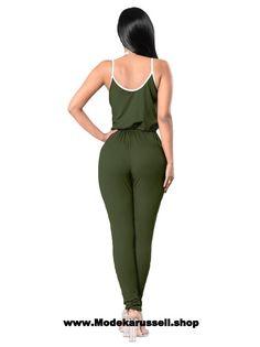 Sexy Clubwear Einteiler Jumpsuit Dunkelgrün