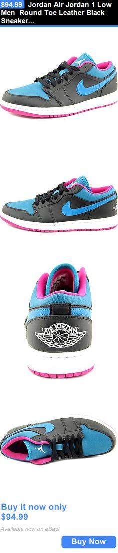 buy online 7c3c0 7f3c2 Men Shoes  Jordan Air Jordan 1 Low Men Round Toe Leather Black Sneakers BUY  IT