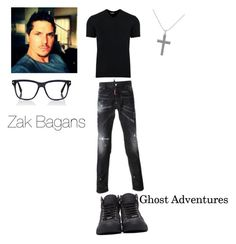 """""""Zak BagansGhost Adventures"""" by noegarciatavares ❤ liked on Polyvore featuring Dsquared2, Dolce&Gabbana, Jimmy Choo and Tom Ford"""
