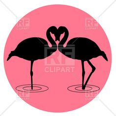 Flamingo Images Clip Art | ... , Silhouettes, Outlines, download Royalty-free vector clip art (eps