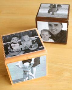 diy gift - mod podge photo cube