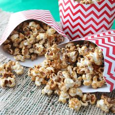 Healthier Caramel Corn from Living Well Kitchen using Monk Fruit in the Raw. This is a sponsored post for the Recipe ReDux ~ great for a gluten free Christmas or holiday gift