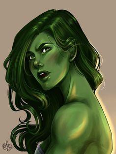 #She #Hulk #Fan #Art. (She-Hulk) By:KarotheKreator. ÅWESOMENESS!!!™ ÅÅÅ+ - #GamoraMinis #GamoraSad #GamoraWeapons