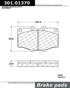 Buy Toyota Land Cruiser Disc Brake Pad Centric 301.01370 - TheAutoPartsShop for as low as $18.71 at TheAutoPartsShop.  Brand : Centric,   Part Number : 301.01370,  Price : $18.71,  2 Years Warranty, . Get Best Discount Deals for Your Auto Parts, More than 3 Million Parts in The Auto Parts Shop Website. Fitement Year:1989, 1988, 1987, 1986, 1985, 1984, 1983, 1982, 1981, 1980, 1979, 1978, 1977, 1976