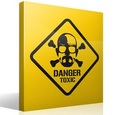 Adesivi Murali Heisenberg Danger Toxic