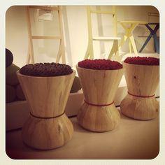Beautiful set of 3 swithy stools