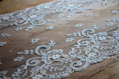 """Lace Table Runner (7 ft., 84"""" ) // Weddings, Home Decor, Rustic, Shabby Chic on Etsy, $19.95"""