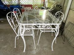 Vintage Wrought Iron Patio Set 150 Furniture And