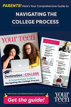 Over the years, many parents have come to rely on Your Teen Media's complimentary college guide to help navigate the college admissions process, which puts all the information you and your student need, all in one place. GOOD NEWS: The 2021 guide is here! Destination→College: A Comprehensive Guide to Navigating the College Process is hot off the virtual press and ready to download-FREE!