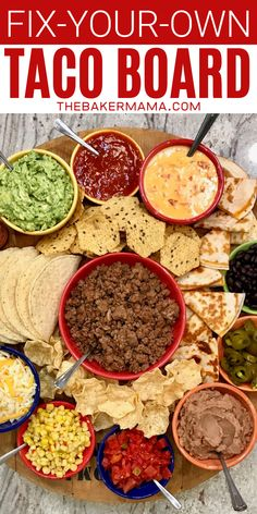 Build-Your-Own Taco Board and More Festive Mexican-Inspired Boards Charcuterie Recipes, Charcuterie And Cheese Board, Charcuterie Platter, Cheese Boards, Mexican Dishes, Mexican Food Recipes, Beef Recipes, Mexican Party Foods, Mexican Desserts