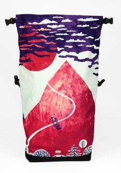 Tomski&Polanski awesome illustration on Braasi Industry backpack! check their webpages tomskipolanski.com or braasi.com