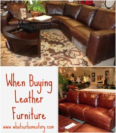 what-to-look-for-when-buying-leather-furniture, tips on buying leather furniture, types of leather Buy Home Furniture, Cheap Furniture, Living Room Furniture, Furniture Ideas, Pipe Furniture, Wooden Furniture, Furniture Cleaning, Furniture Shopping, Furniture Websites