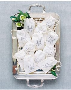 if you do lavender favors i can place on silver trays similar to this and put on repurposed escort card table.  let me know if so...what they look like, how man you have etc so i can plan accordingly.