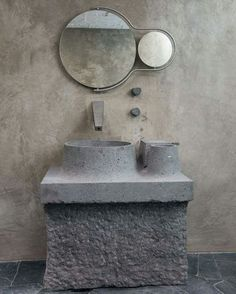 Modernist Brutalist bathroom Modernism Mirror OMG NEED THIS. Artist Pedro Reyes