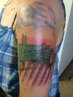Farm Tattoos Ideas farm tractor tattoos