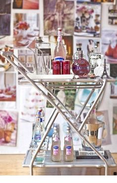 Bar Cart Ideas - There are some cool bar cart ideas which can be used to create a bar cart that suits your space. Having a bar cart offers lots of benefits. This bar cart can be used to turn your empty living room corner into the life of the party. Bar Cart Styling, Bar Cart Decor, Event Styling, Bamboo Bar, Faux Bamboo, Painted Bamboo, Home Interior, Interior Decorating, Interior Design