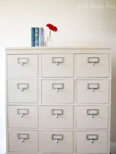 refinished stackable filing cabinet