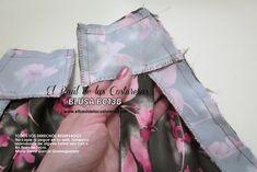 Patrón de costura gratis e instrucciones de confección Blusa cuello halter. Unir cuello a la vista espalda Sewing Tutorials, Sewing Projects, Fashion Sewing, Refashion, Sandals, Clothes, House Design, Blouse, Sewing Ideas