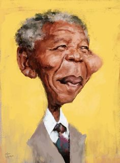 Nelson Mandela #Caricature #FunnyFaces