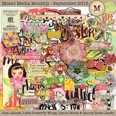 Mixed Media Monthly - Sept. '15 main kit by Lynne-Marie