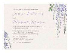 Wisteria Wedding Invitations #wisteria #wedding #invitations