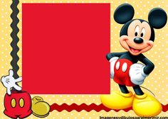 Tarjetas de cumpleaños de mickey