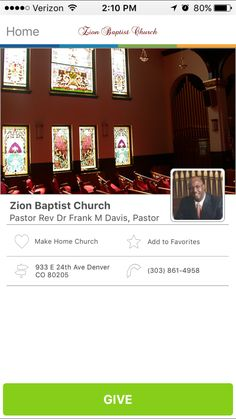 Zion Baptist Church in Denver, Colorado #GivelifyChurches