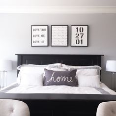 Our New Master Bedroom | Custom Wedding Date Art