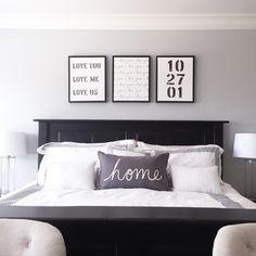 Our New Master Bedroom | Custom Wedding Date Art