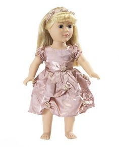 """Holiday Dress Fits American Girl Dolls - 18 Inch Doll Clothes/clothing with 18"""" Accessories:Amazon:Toys & Games"""