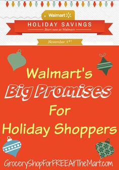 You guys need to read this.  Walmart is doing a TON of stuff to save you money this Holiday season.