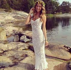 Would love to crochet a long beach dress. Go straight from the beach to dinner on the bat!