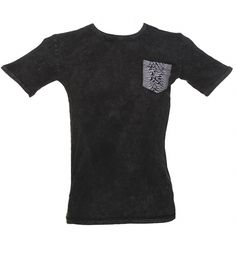 Men's Charcoal Joy Division Unknown Pleasures Pocket T-Shirt