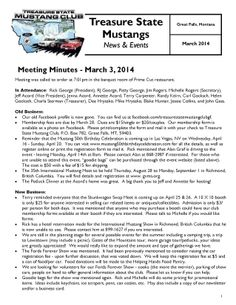 March 2014 Newsletter Click the link to view:  http://treasurestatemustangclubgf.weebly.com/uploads/2/6/9/1/26917180/march_2014_newsletter_-_treasure_state_mustang_club_gf.pdf