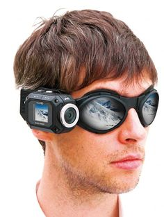 JVC's new action cam comes supplied with a goggle mount and flexible mount. This is just really cool...