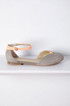Citizen D'Orsay flats in stone and peach.