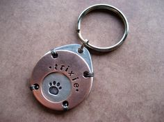 Unique Pet Id Tag  Handmade  Copper  Aluminum  by woowooworkshop, $19.50