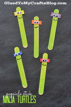 Popsicle Stick Ninja Turtles - Kid Craft