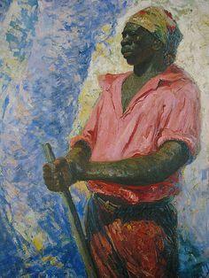 """""""Zumbi dos Palmares"""", pintura em óleo sobre tela de Antônio Parreiras (1860-1937).  Veja também:  http://semioticas1.blogspot.com.br/2011/07/imagens-do-oitocentos.html"""