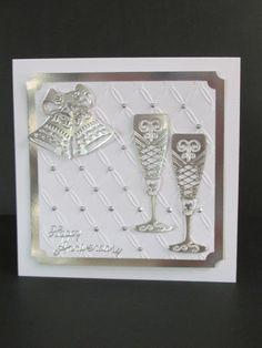 25th Anniversary Silver Wine Goblets Bells by DebbiesLadybugDesign, $8.50