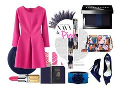 """New Hues: Pink + Navy"" by suitvous ❤ liked on Polyvore featuring Christian Dior, Royce Leather, RGB, MAC Cosmetics, Eddie Borgo, Marni, Manic Panic, Bobbi Brown Cosmetics, Elizabeth Arden and WorkWear"